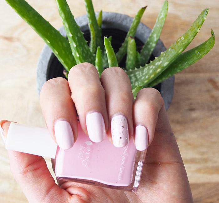 100% pure nail polish first-love