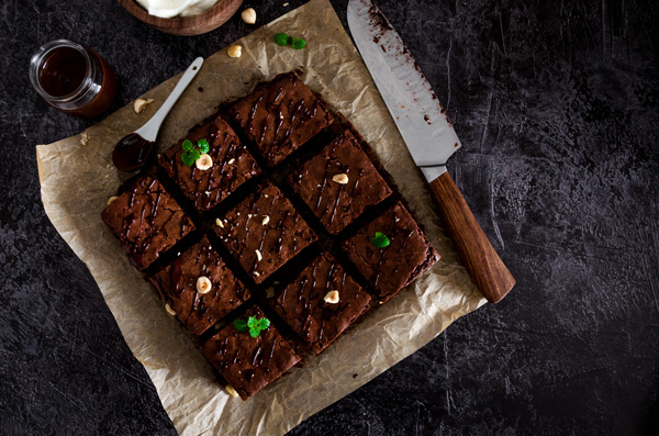 Brownie menthe noix