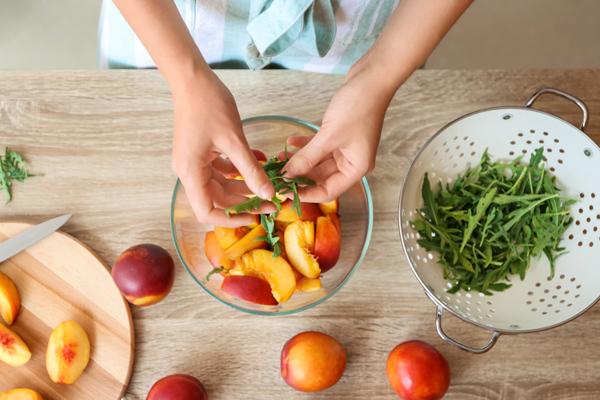 Ingrédients salade nectarine