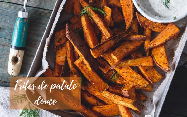Recette frites de patate douce