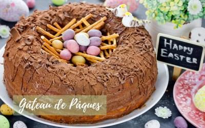 Gâteau de Pâques en forme de Nid d'oiseau