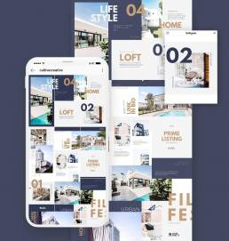 Real Estate Instagram Collage Template