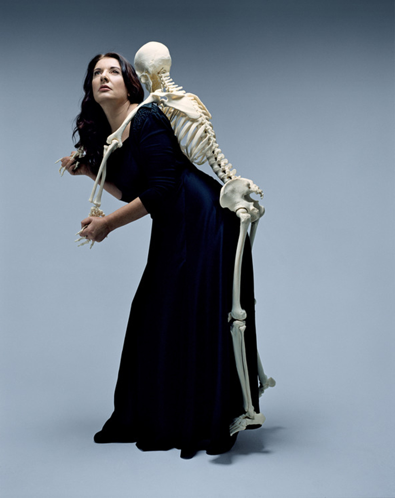 "Marina Abramovic, Carrying the Skeleton"" (2008)."