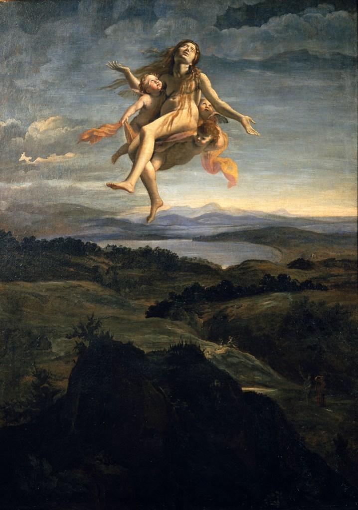 Giovanni Lanfranco: Santa Maria Maddalena portata in cielo dagli angeli, 1616/1618 ca., olio su tela, 110×78 cm, Museo Nazionale di Capodimonte, Napoli