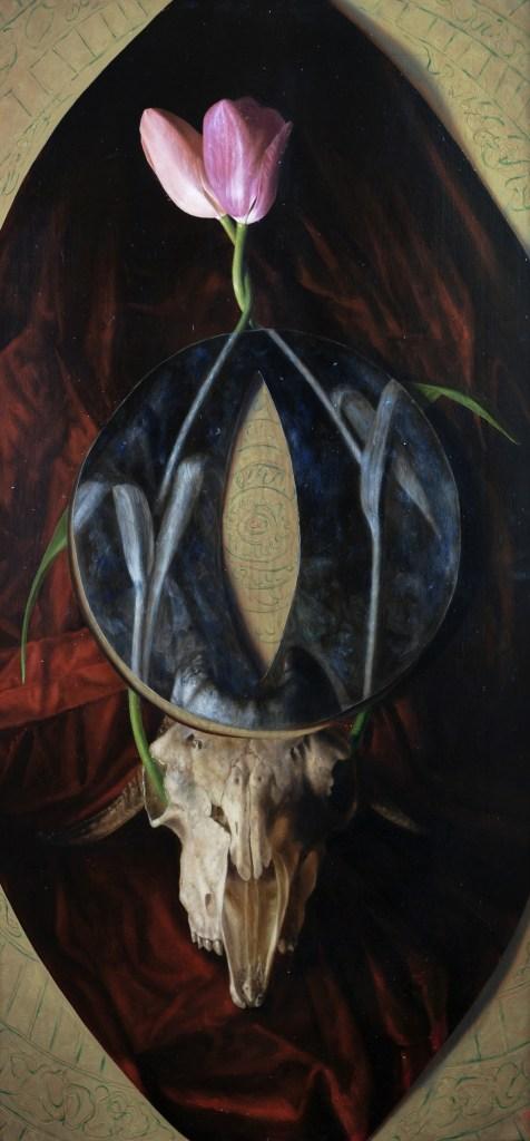 Adriano Fida, Vanitas, olio su tela, 40x80