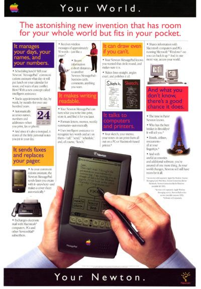 Newton MessagePad is ahead of the times