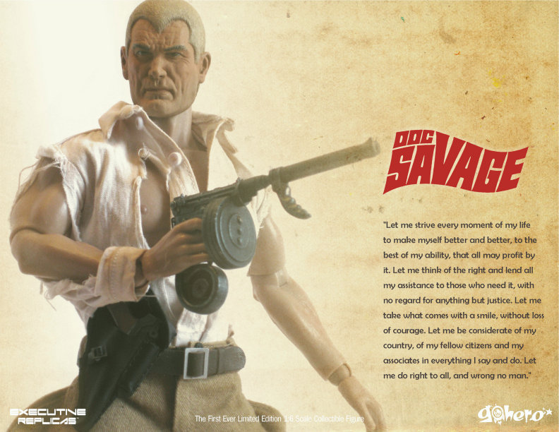 Doc Savage Premium 1 6 Action Figure From Executive Replicas