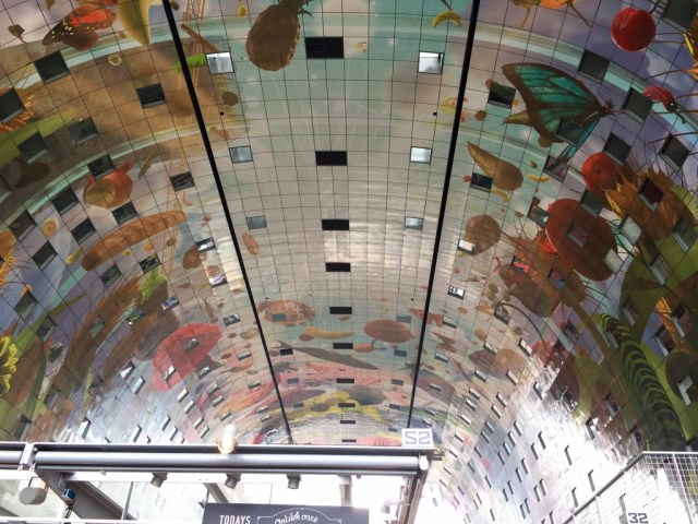 Artwork ceiling of the Markthal in Rotterdam