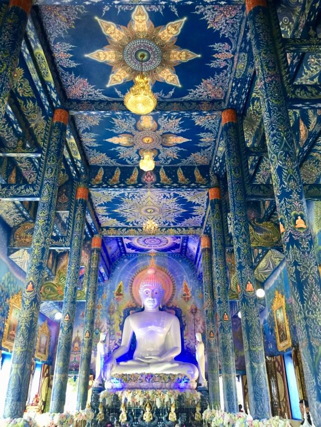 Wat Rong Suea Ten (Blue Temple) near Chiang Rai