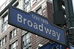Placa da Broadway, em Nova York