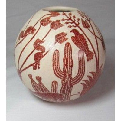 Mata Ortiz Pottery, Chihuahua Leonel Lopez Birds