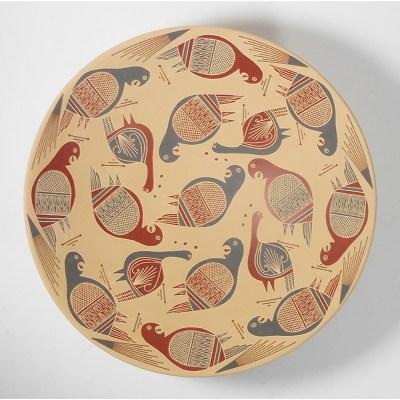 Mata Ortiz Pottery, Chihuahua Ramiro Veloz Birds