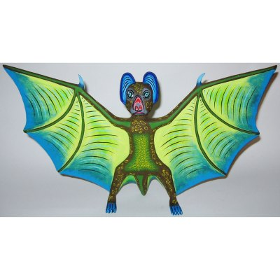Oaxacan Wood Carving Eleazar Morales: Bat Bats