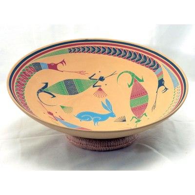 Plate Ramiro Veloz: Large Plate With Lizard Snakes, Rabbit Reptiles & Amphibians