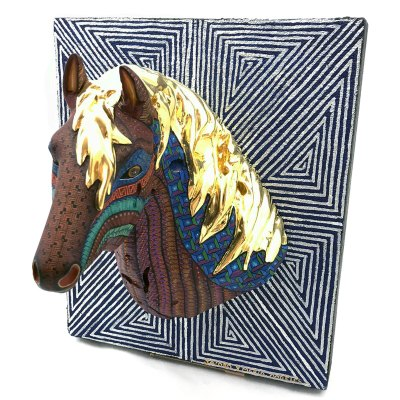 Jacobo and Maria Angeles Jacobo and Maria Angeles Workshop: Premier Gold Leaf Horse Head Wall Mount Horse