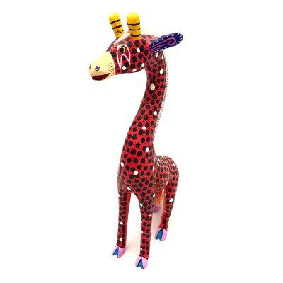 Gil Santiago Gil Santiago: Medium Red Giraffe African Animals