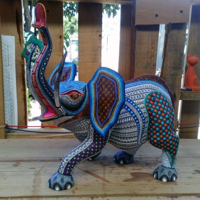Manuel Cruz Manuel Cruz: Stunning Collector Elephant Direct from Oaxaca Manuel Cruz