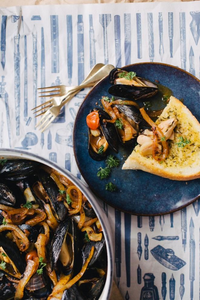 Tomato Chorizo Mussels | Cultural Chromatics-6