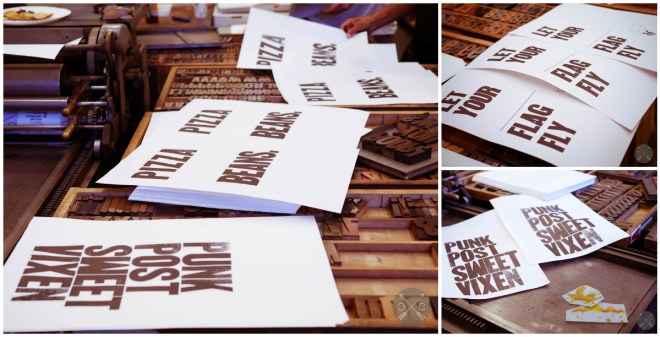 Letterpress with Punkpost