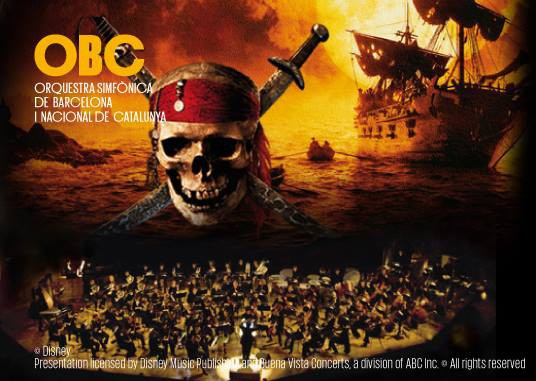 Cine en las salas de concierto: Piratas del Caribe con la OBC