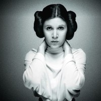 Carrie Fisher y la princesa Leia