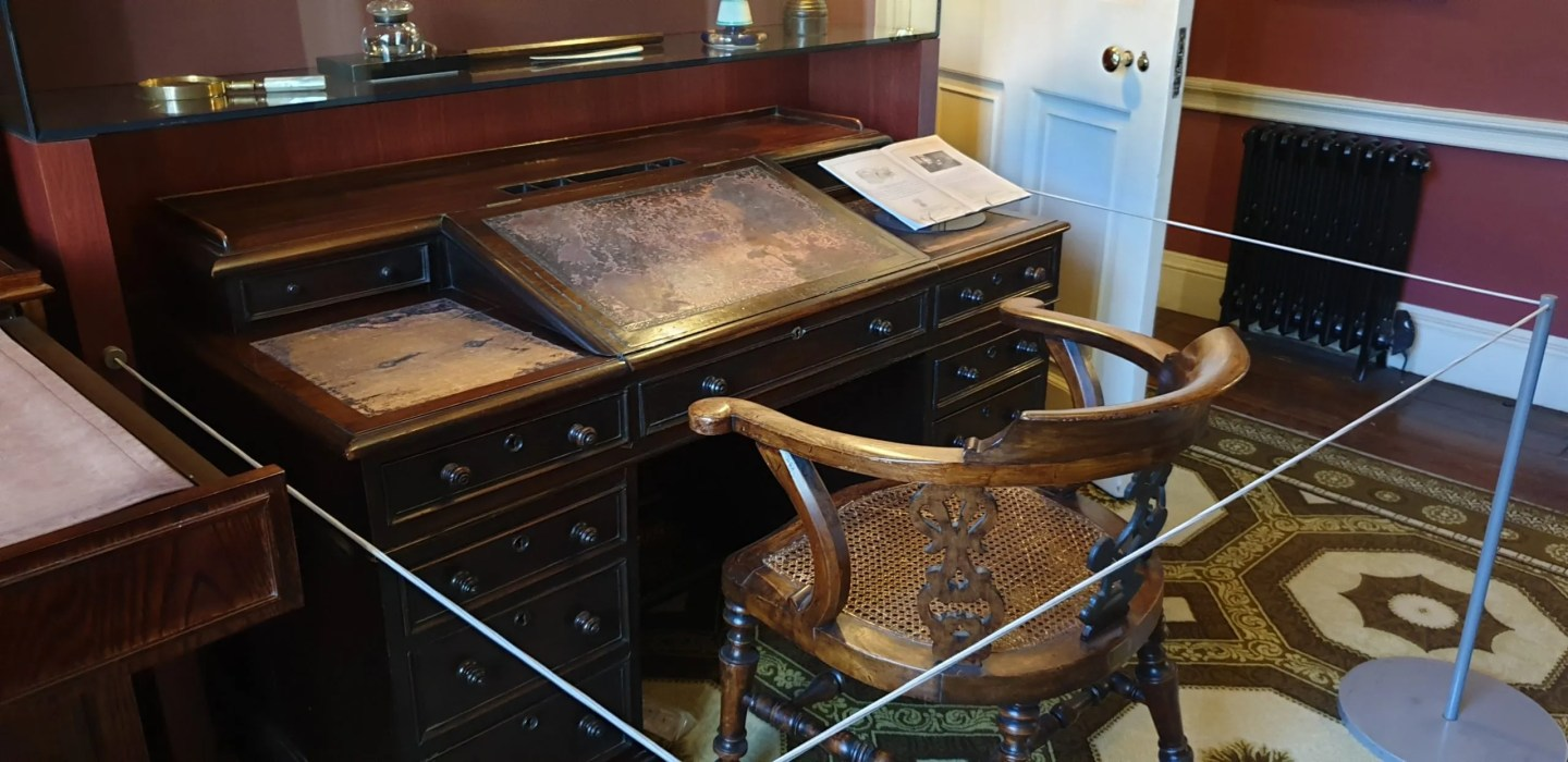 Charles Dickens desk and chair