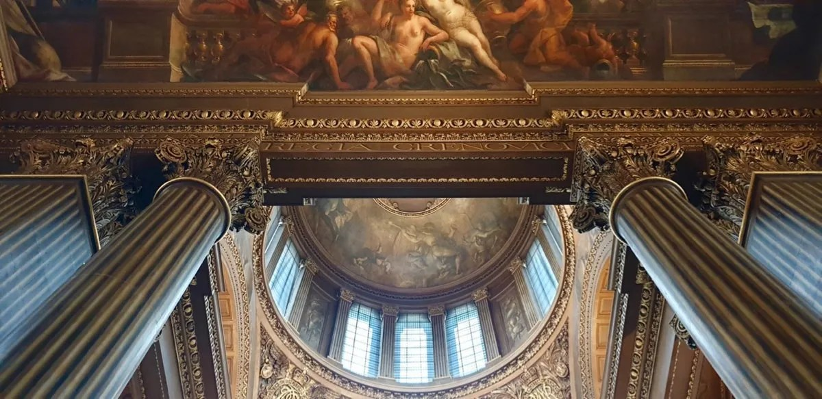 Painted Hall Greenwich cupola and ceiling