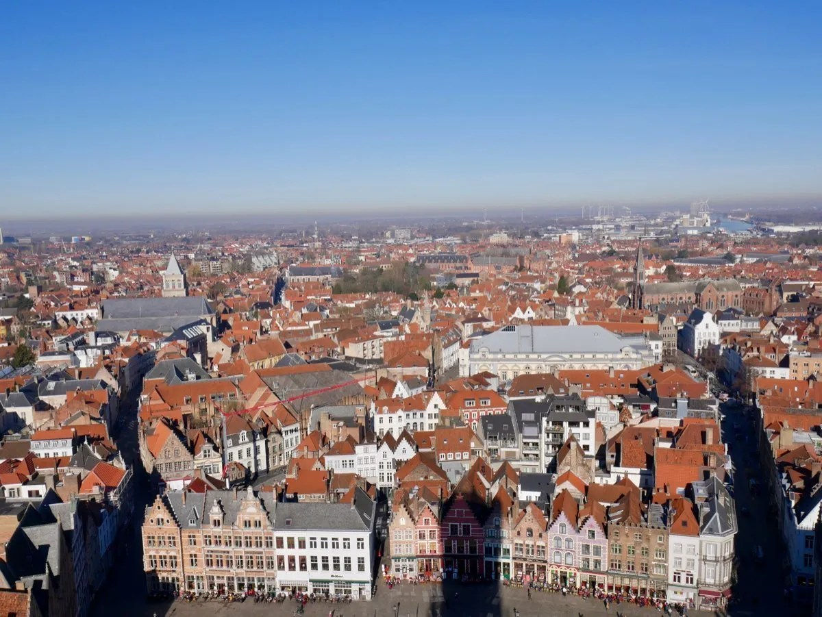View from Bruges Belfort