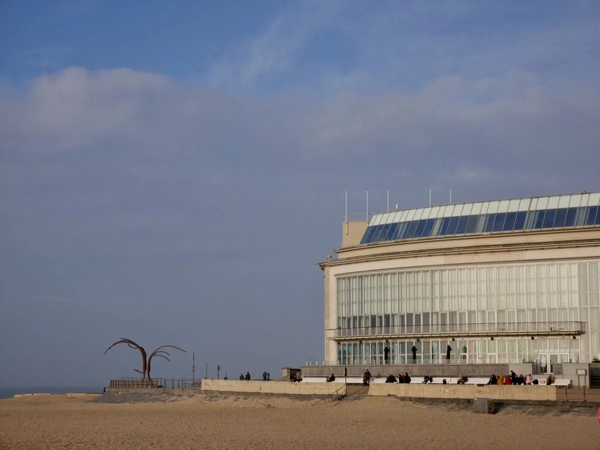 Ostend Casino and beach