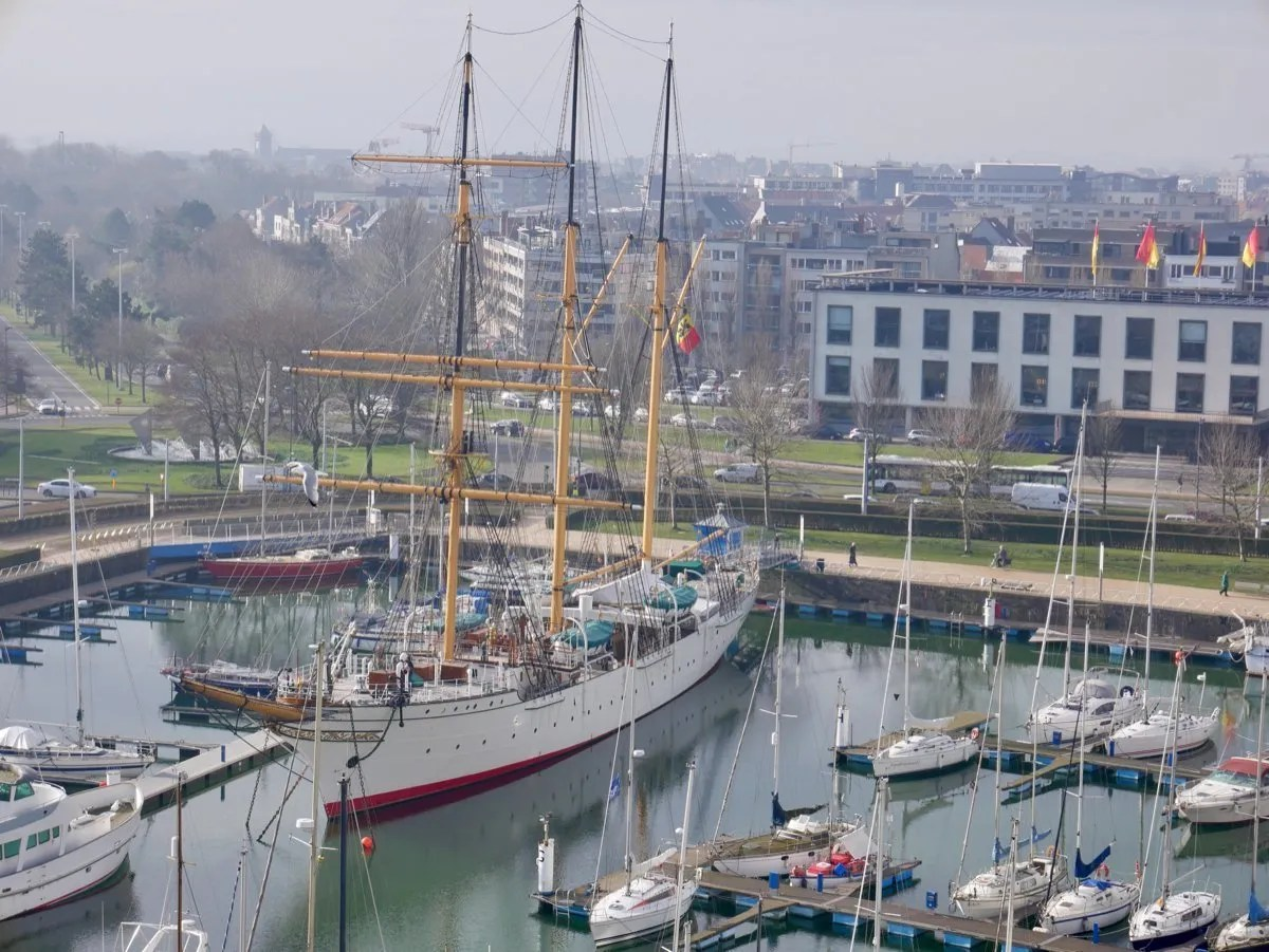 Mercator sail ship Ostend marina
