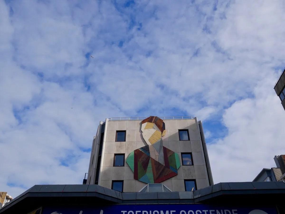 Strook street art Ostend