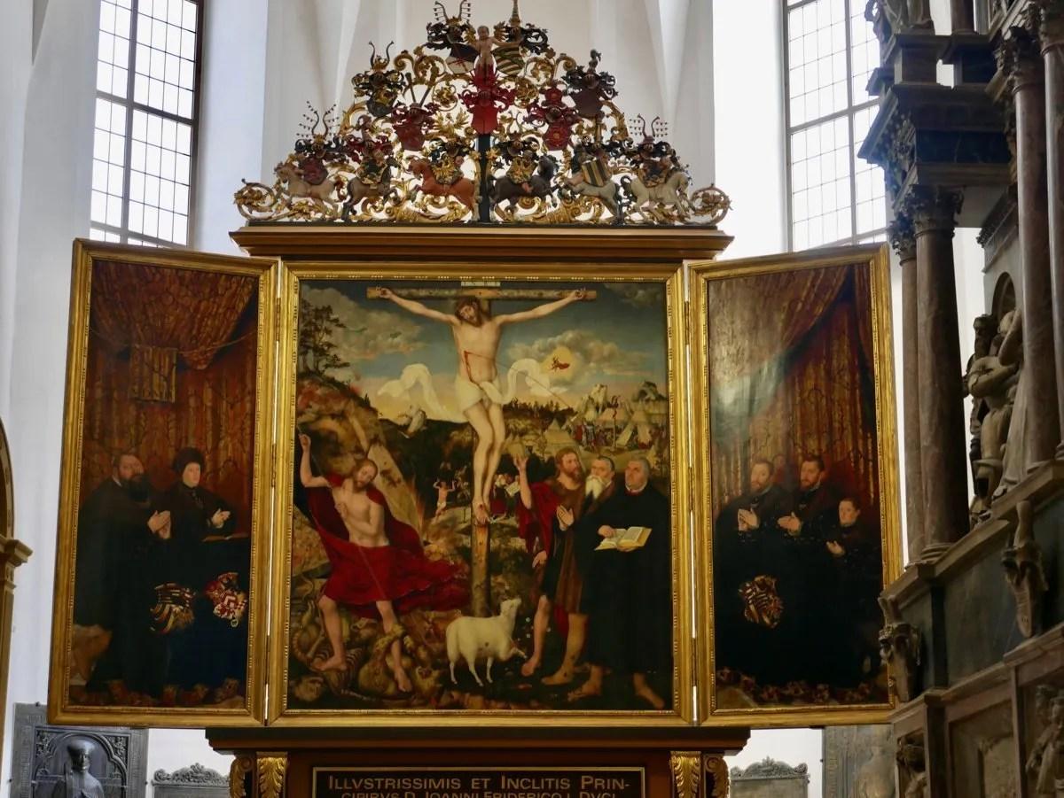 Cranach alter piece Weimar Germany