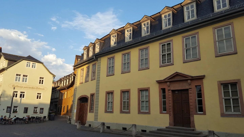 Yellow baroque Goethe House Weimar Germany