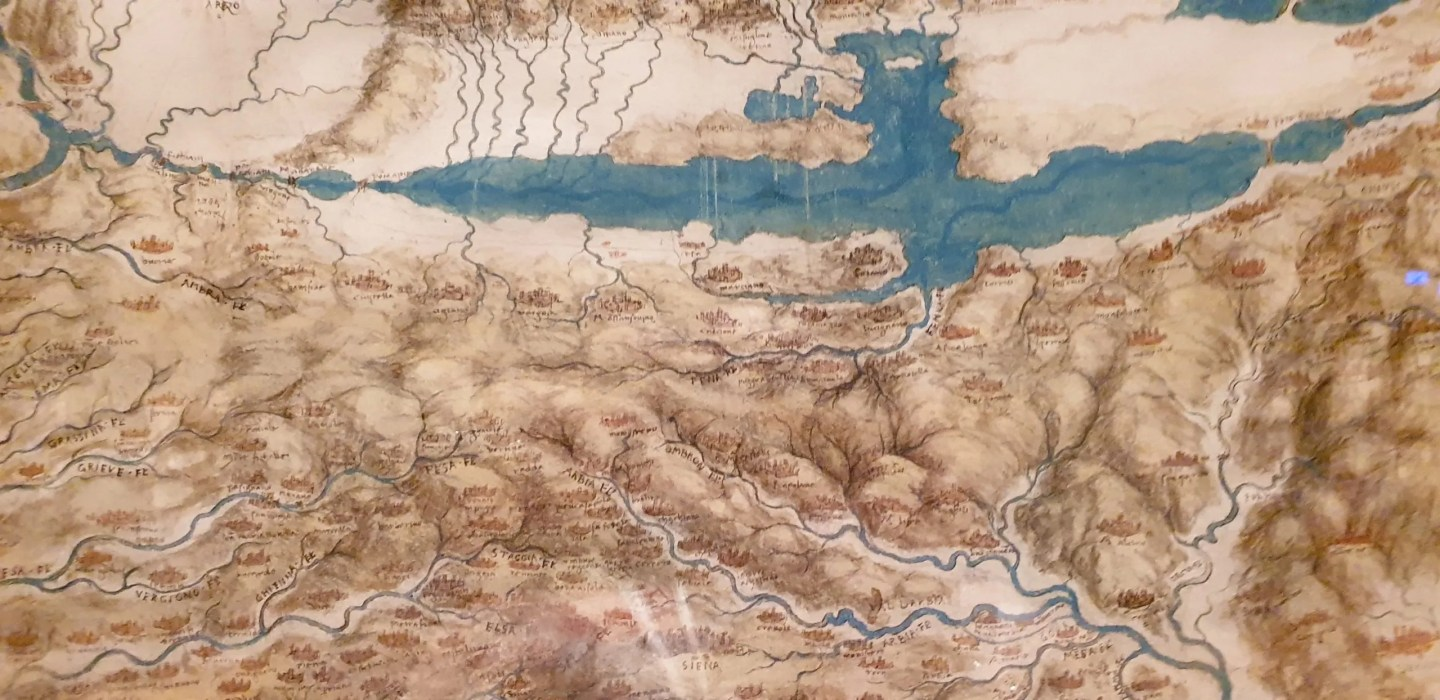 Leonardo da Vinci map of Imola