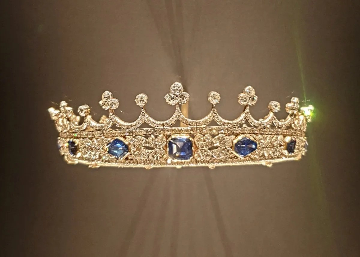 Diamond and sapphire tiara designed for Queen Victoria by Prince Albert