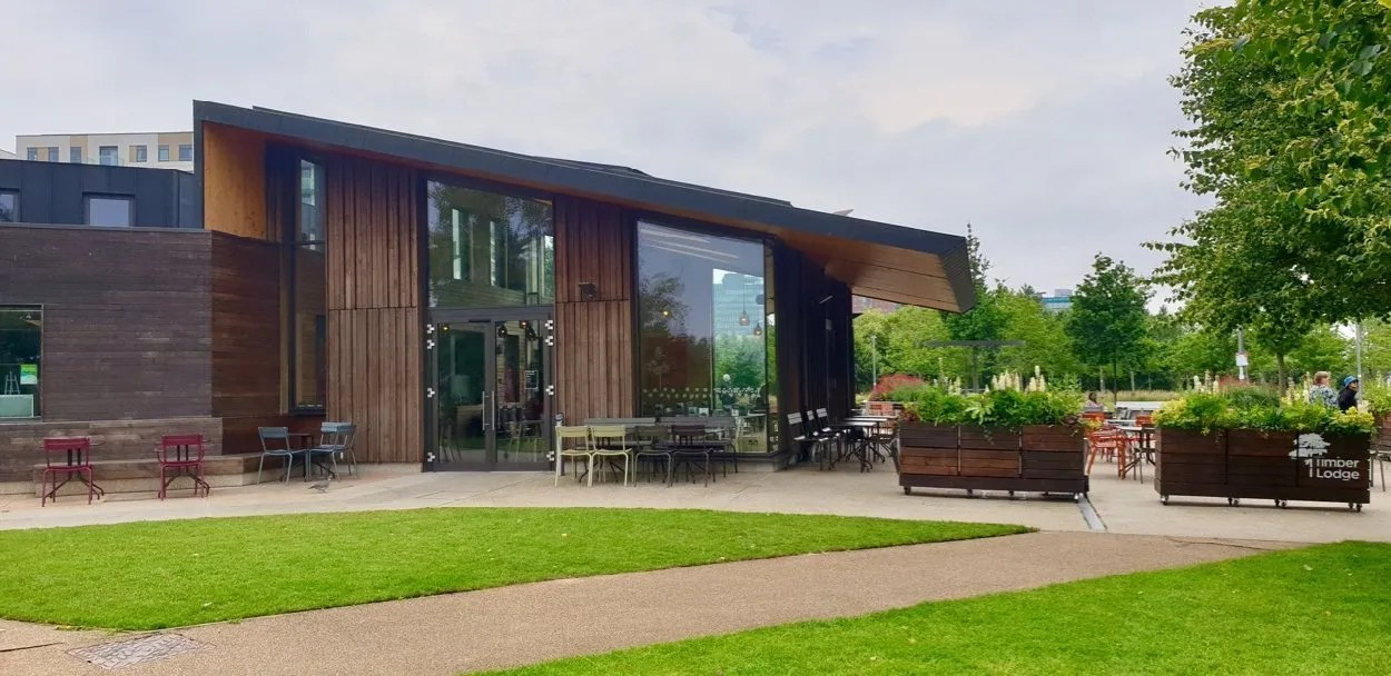 Timber Lodge Cafe Queen Elizabeth Olympic Park London