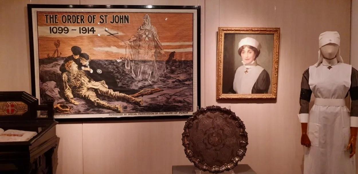 St John Ambulance history display