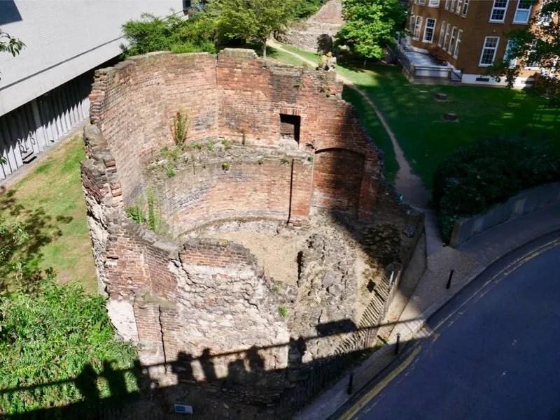 London Wall Roman Tower