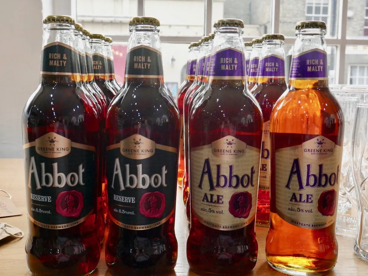 Four bottles of Abbot Ale