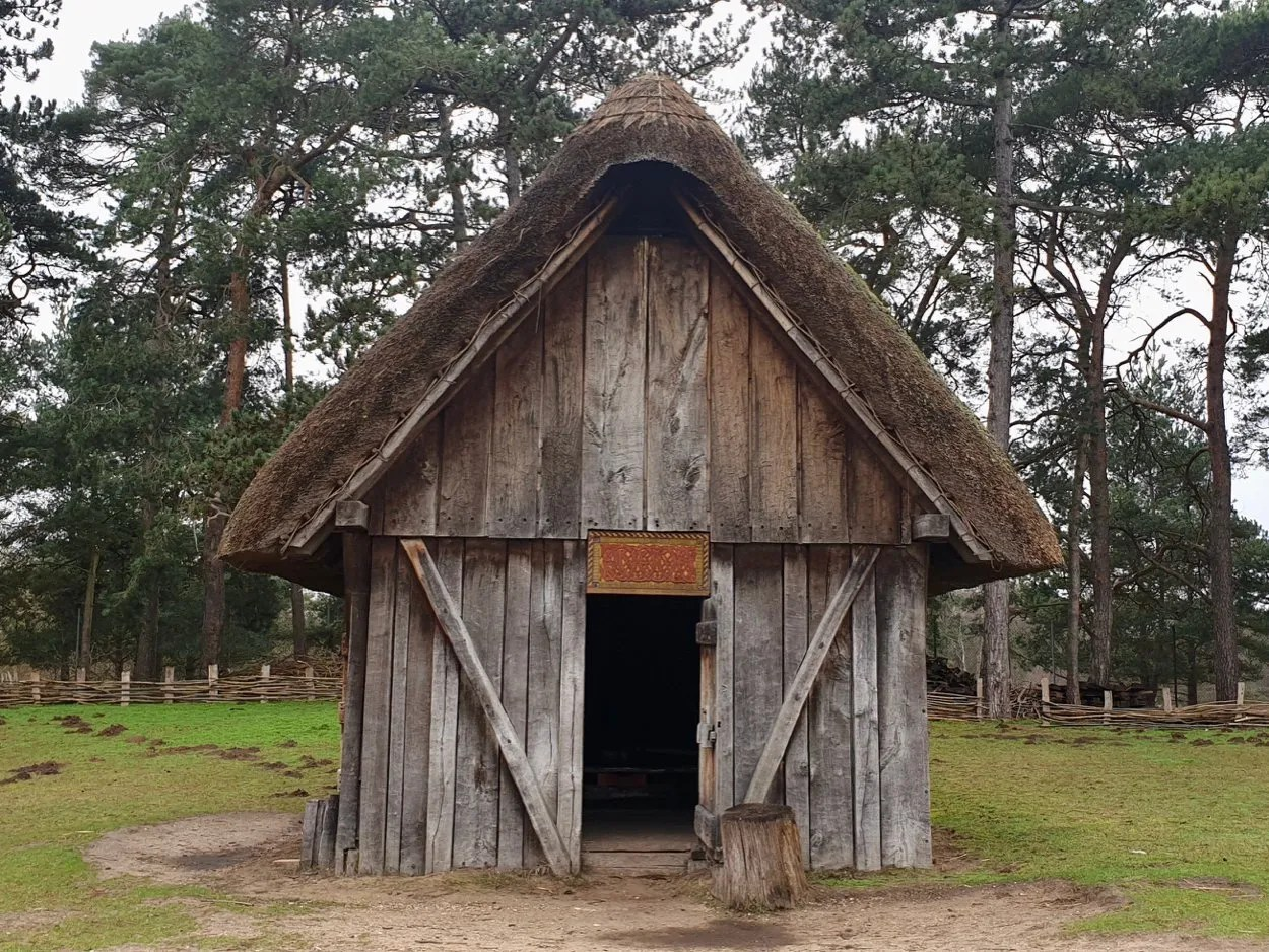 Wooden Anglo Saxon house