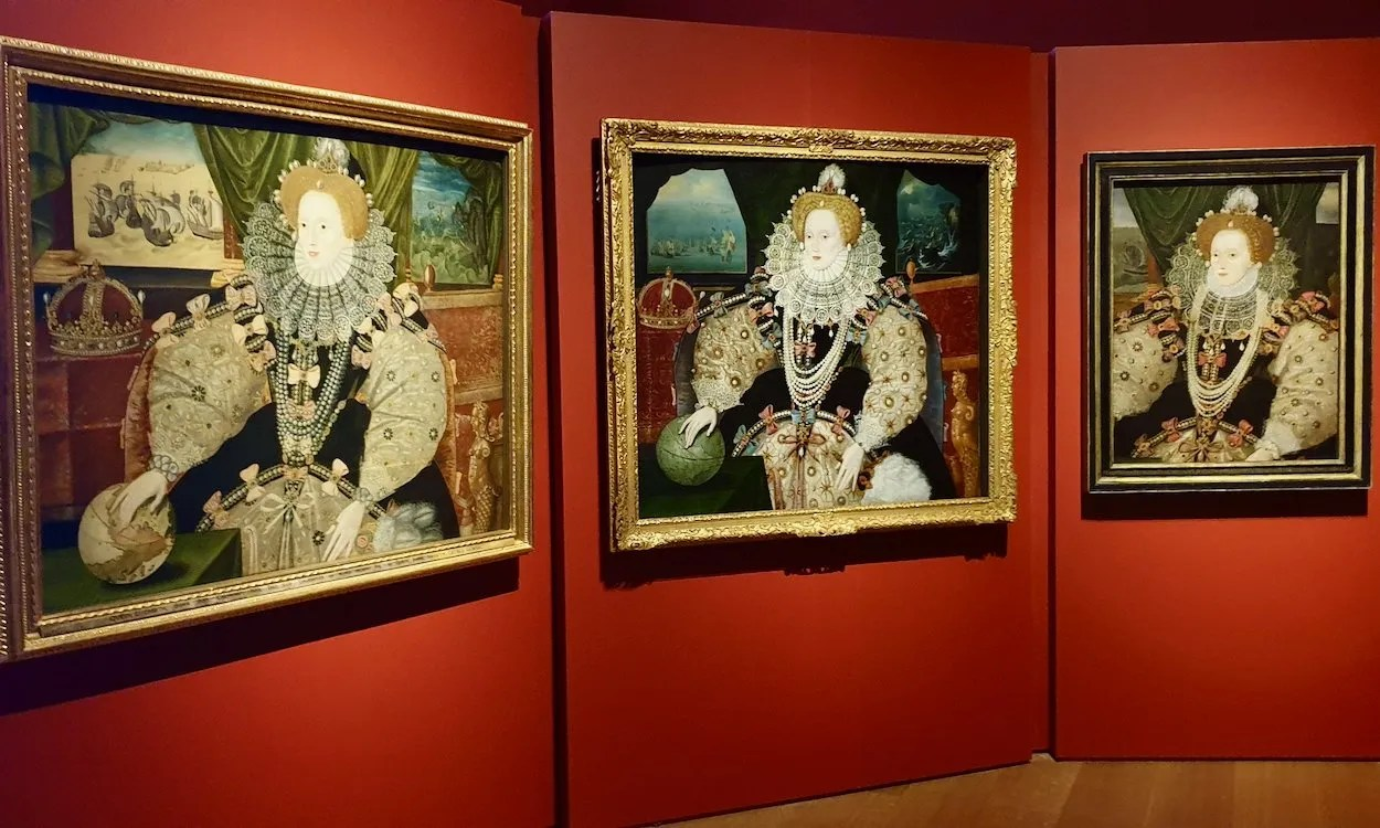 All three Armada Portraits of Queen Elizabeth I