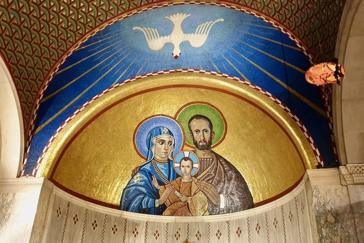 Mosaic holy family chapel of St Joseph Westminster Cathedral