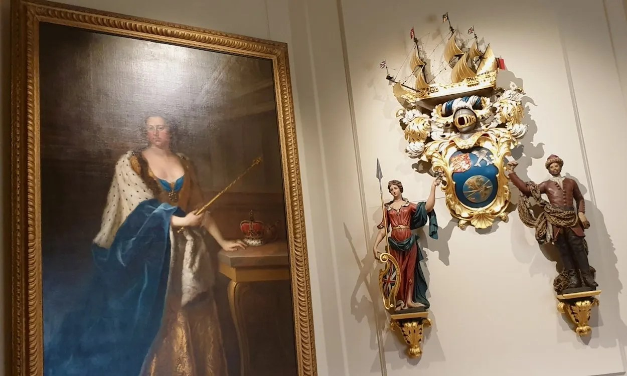 Queen Anne and the shipmakers coat of arms Queen's House Greenwich