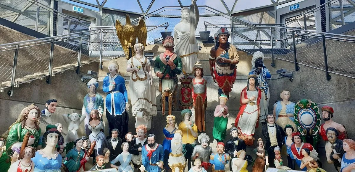 Long John Silver Collection of ship's figureheads at Cutty Sark London