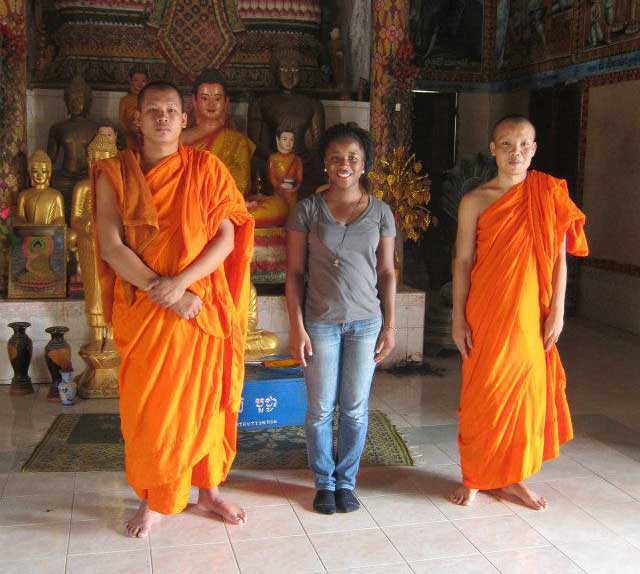 With Cambodian Monks, 2012