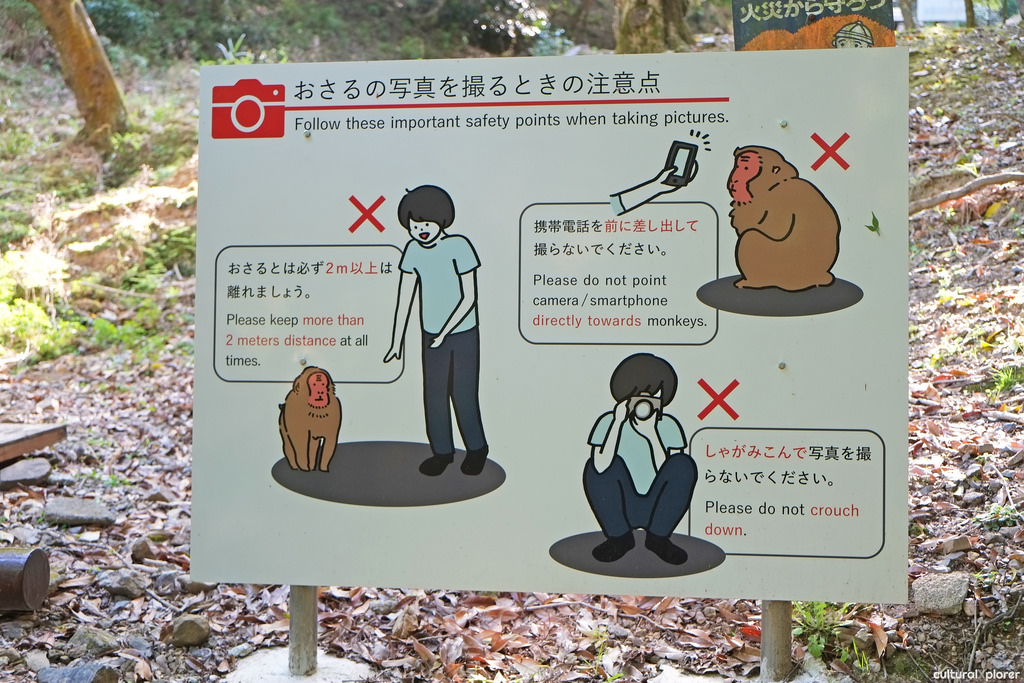 monkey park kyoto sign