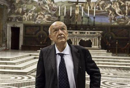 Lo storico dell'arte Antonio Paolucci