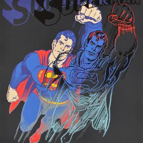 Andy Warhol Superman, 1982 - 1985 Serigrafia su Lennox museum board, 96x96 cm Collezione privata © The Andy Warhol Foundation for the Visual Arts Inc. by SIAE 2018 per A. Warhol