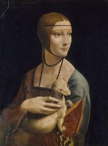 Leonardo da Vinci Dama con l'ermellino, 1490 ca. Cracovia, Czartorysky Museum. © 2019. Foto Scala, Firenze