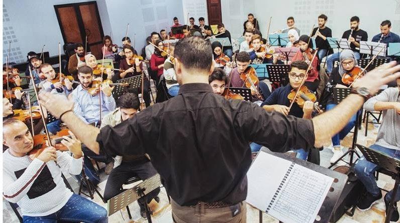 Orchestre des Jeunes d'Algérie en répétition avant leur 1er concert.